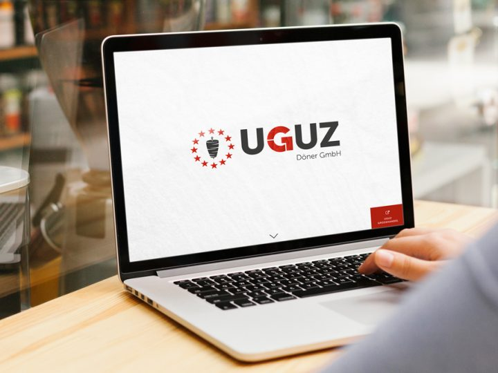 Uguz Döner Website auf Laptop