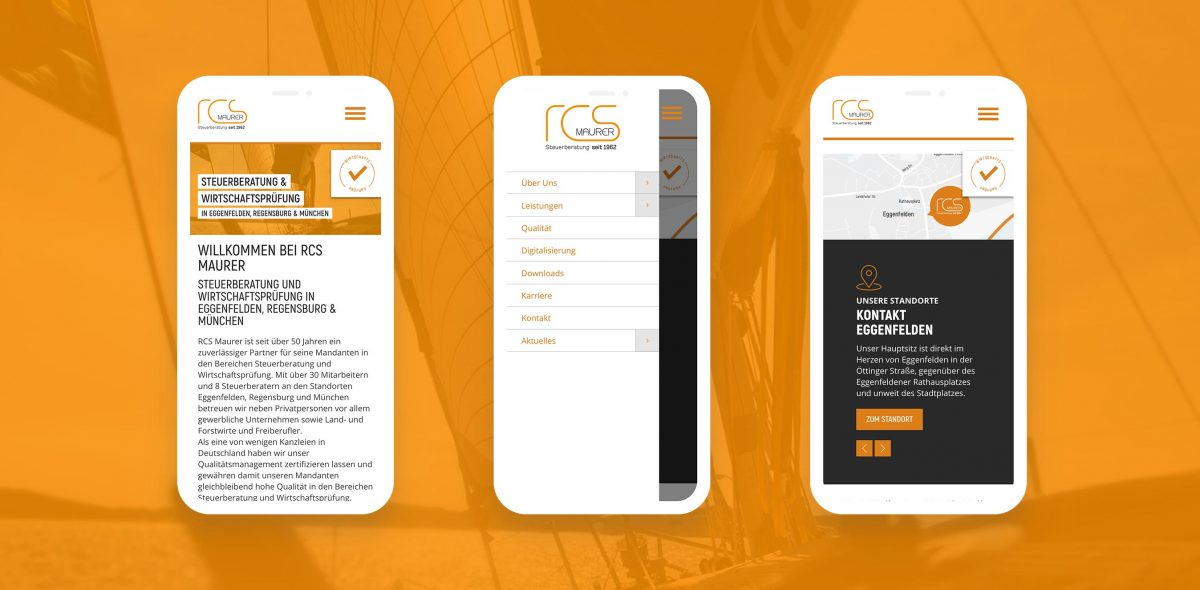 RCS Maurer Website auf Handy